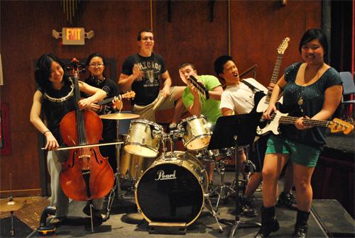 From left to right: Katie Tan, Esther Cho, Scott Altern, Jay Zussman, Skyler Chin, Serena Shen