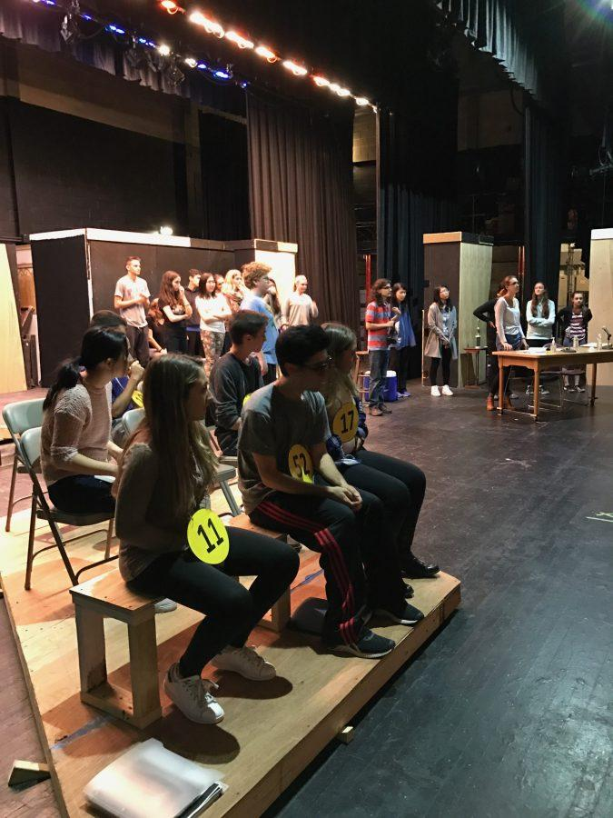 B-U-S-Y+B-E-E-S%E2%80%94Theater+South+students+watch+attentively+as+Mr.+Marr+gives+instructions+during+play+practice.Photo+reproduced+by+permission+of+Julia+Kelly%0A