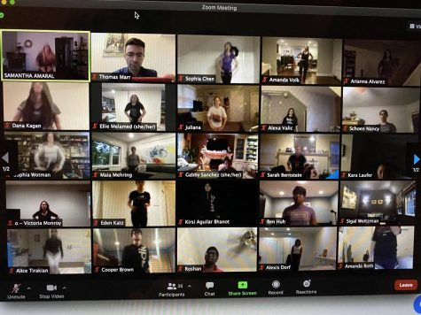 Rehearse the screen—The cast of the virtual, The Chorus Line, holds their after school meeting virtually through zoom during the pandemic.